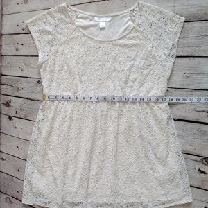 Tops - Motherhood Maternity Ivory Lace Babydoll Top